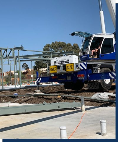 An ATF-40 Tonne All Terrain Tadano Crane with BT Access Group branding in use